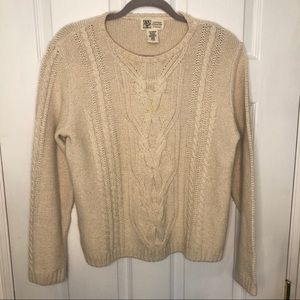 Vintage Cotton Country Parkhurst CableKnit Sweater